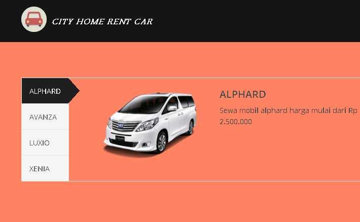 Sewa Mobil Alphard cityHomerentcar.com
