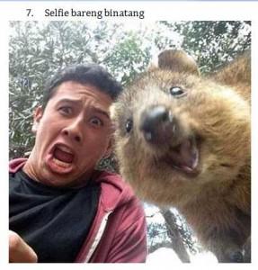 7 Selfie Bareng Binatang