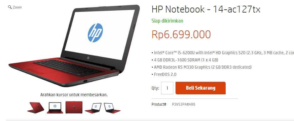 HP 14ac127tx