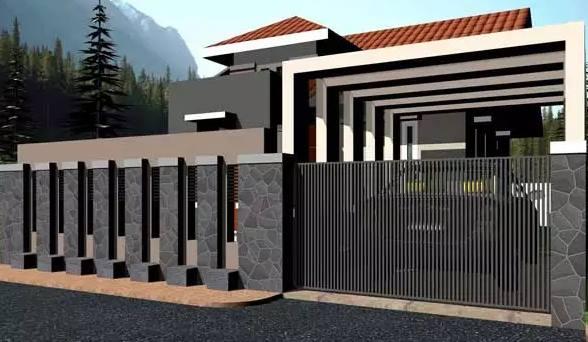 Model Rumah Dengan Pagar Minimalis Terbaru