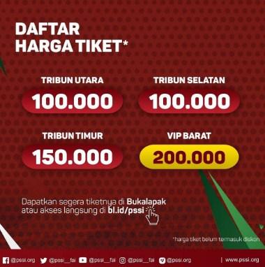 jual tiket Indonesia vs Islandia resmi
